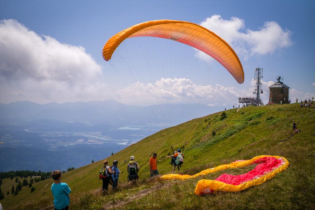 Paraglider am Gerlitzen