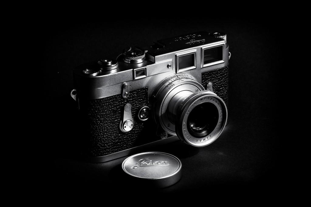 Meine M3 (Bj. 1955) mit 50mm Elmar (Bj. 1963), versenkbar.