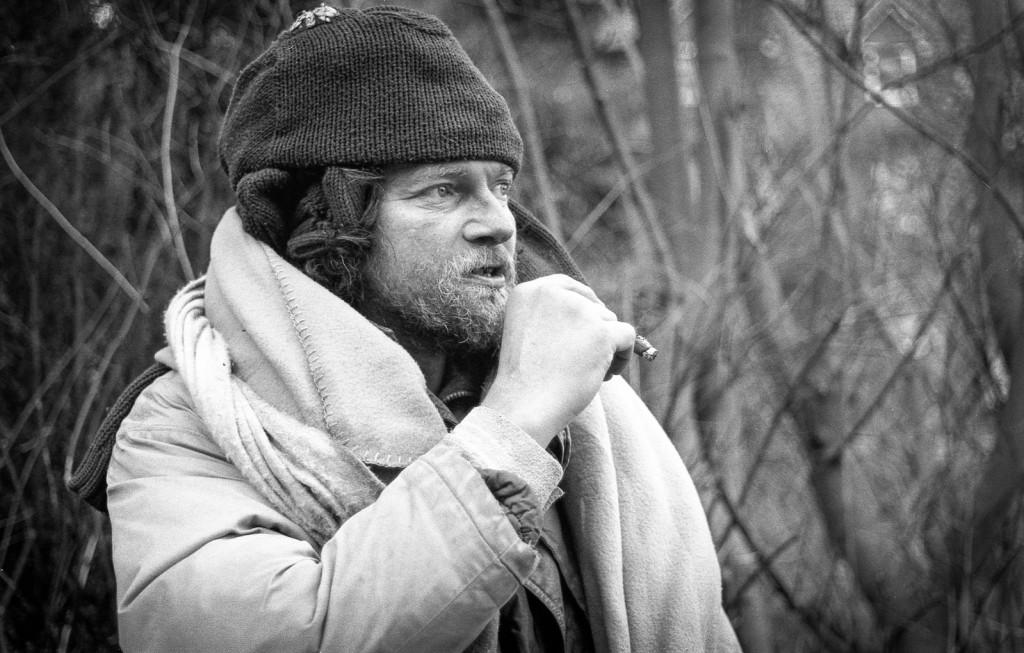 Homeless, Leica M2 mit Elmar 50mm, Kodak TMax400