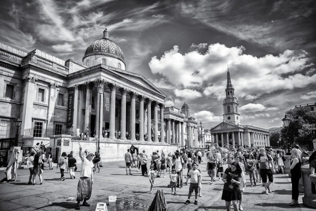 Trafalgar Square, Leica M mit 21mm Super-Elmar asph. bei f/3.4 1/2000sec ISO 200