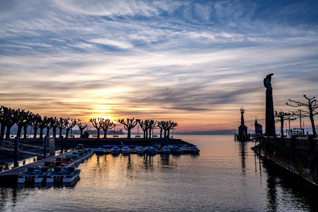 Hafen Konstanz am MORGEN