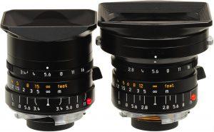 Vergleich Elmarit-M 1:2,8/21 mm ASPH./ Super Elmar f/3.4/21mm ASPH.