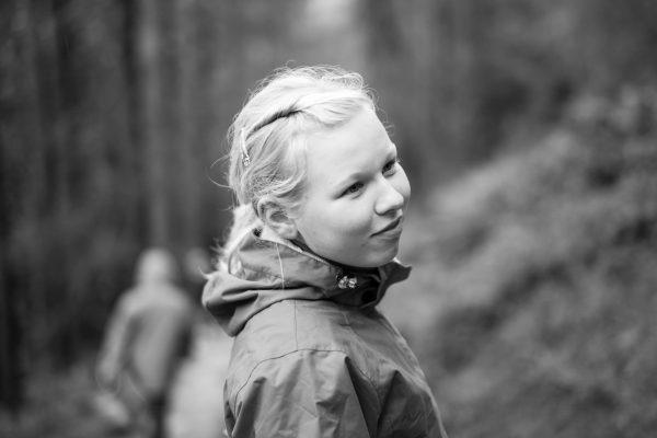 Porträt während einer Wanderung