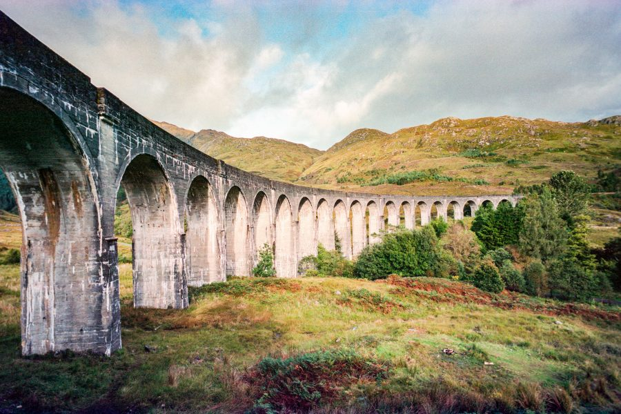 Glennfinnan-Viadukt. Leica M6 mit 21mm Super-Elmar, Kodak Portra 160