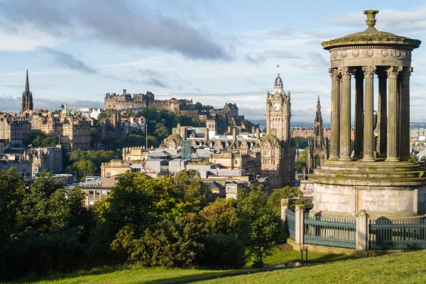 Edinburgh, der klassische Blick von Calton Hill. Leica M10 mit 50mm Summilux