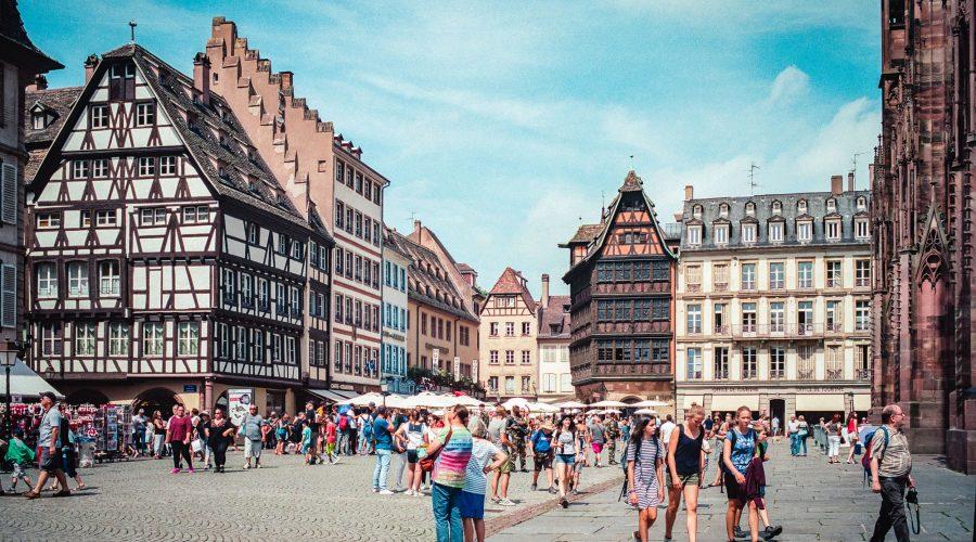 Vor dem Münster, Kodak Portra