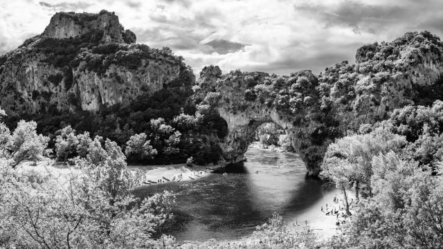 Mit der Leica IIIf an der Ardèche