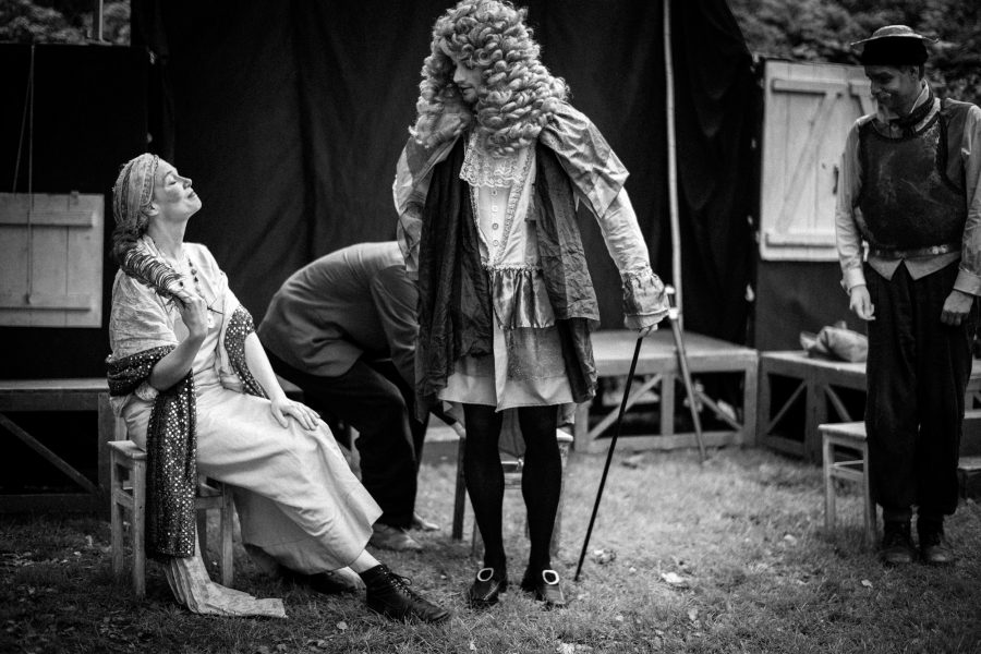 Herzog und Herzogin empfangen Don Quichote