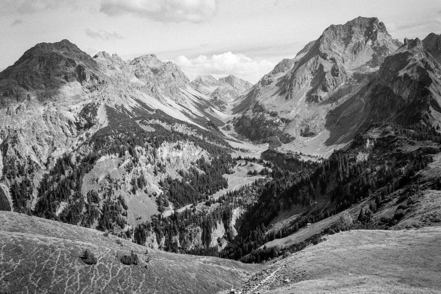 Blick auf die Klesenza-Alpe