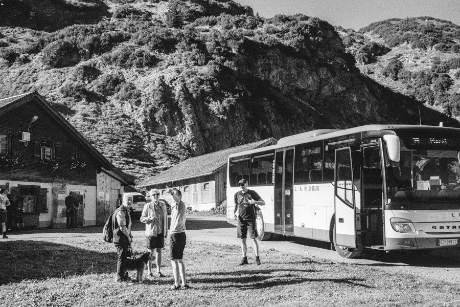 Der Wanderbus auf der Alpe Laguz