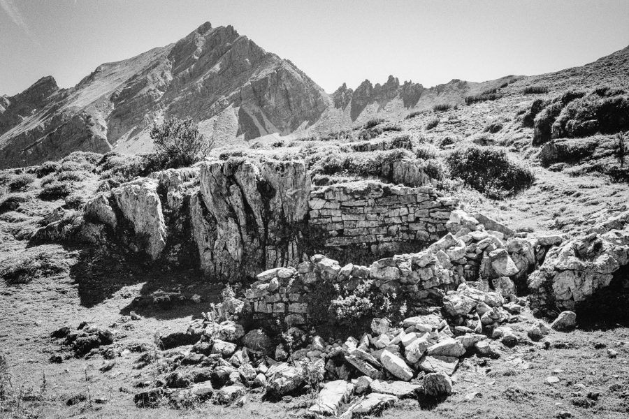 Ruine unterhalb der Novaspitze