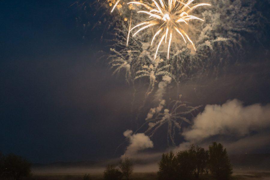 Feuerwerk an der Weser