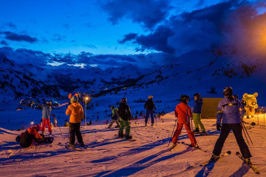 Nacht-Skifahren in Obertauern