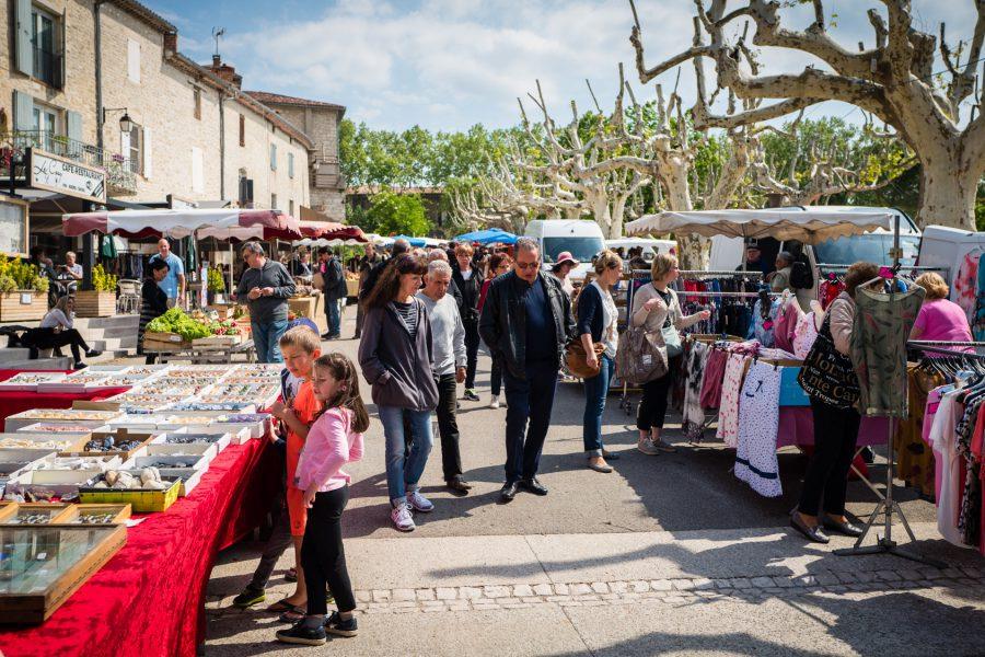 Markt in Barjac