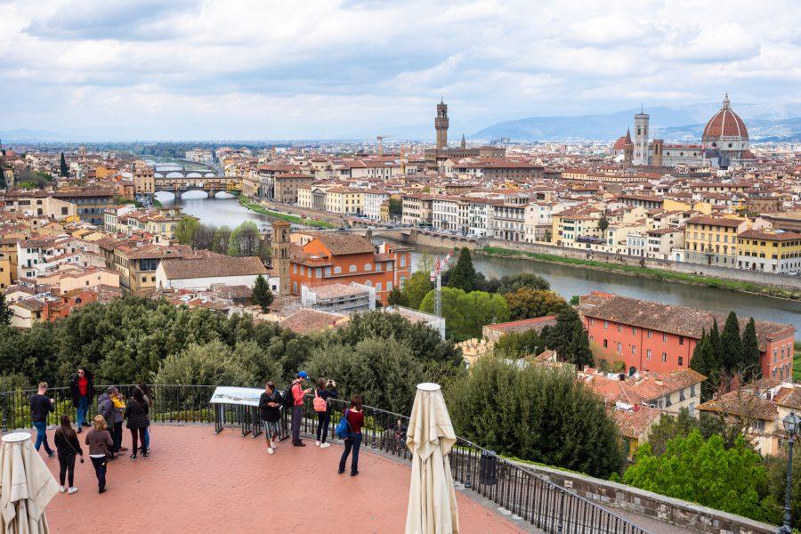 Der übliche Blick von der Piazzale Michelangelo – Wetter verschlechtert sich