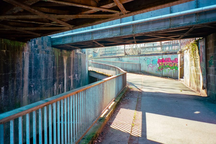 Vlotho in hässlich: Unter der Eisenbahn