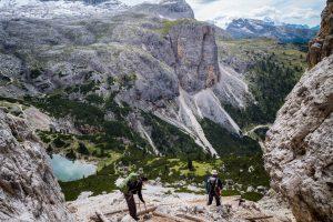 Dolomiten. Ein steiler Abstieg. Leica M10 mit 28mm Elmarit