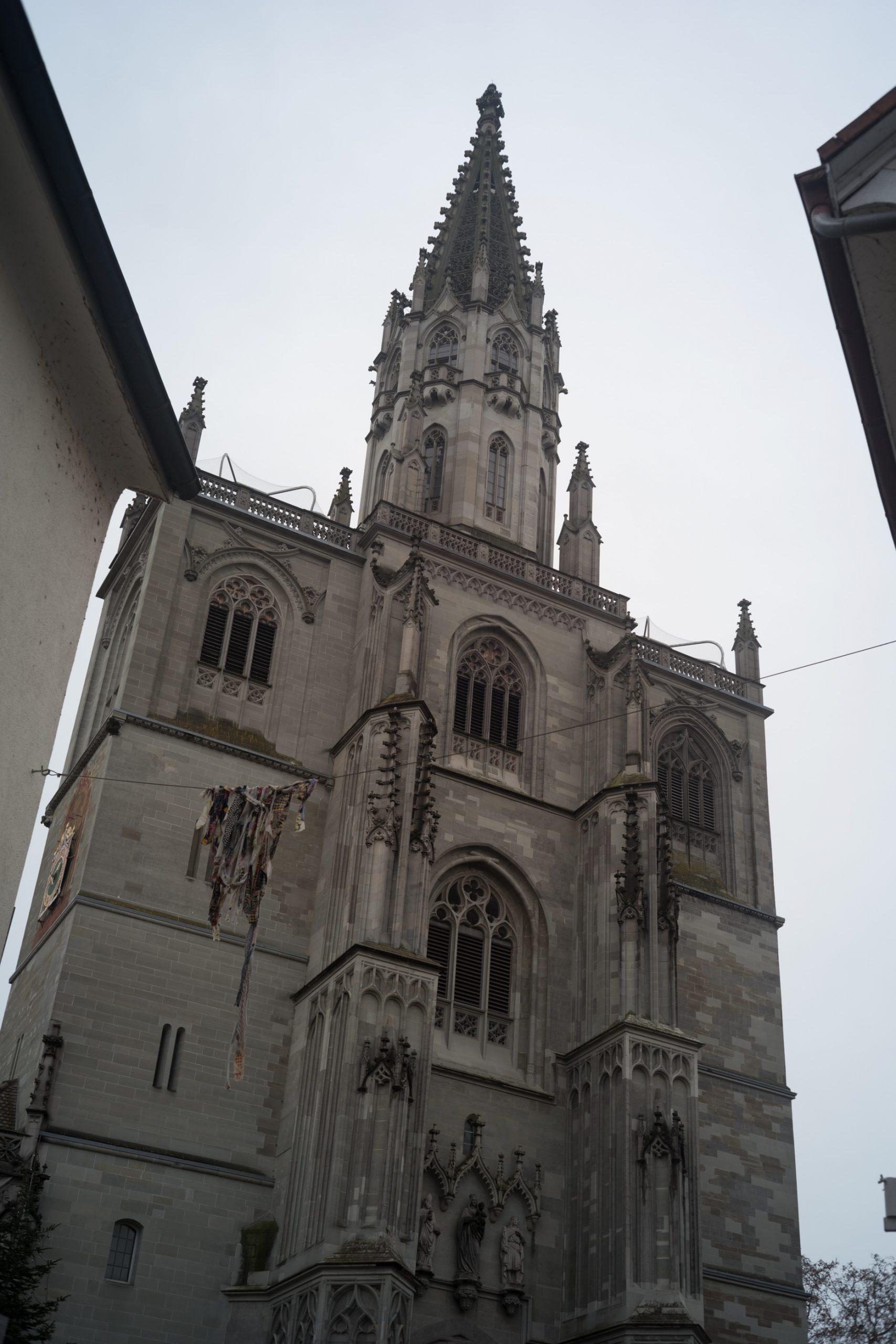 Das Konstanzer Münster ist in jeder Hinsicht eine interessante Kirche. Hier dient es aber nur dazu, die feine Auflösung des Rollei-Sonnars auch an einer 24-MP-Kamera zu zeigen. Rollei Sonnar 40/2.8 an Leica SL.